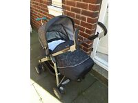 Silver Cross 3D Travel System with Ventura car seat in Charcoal