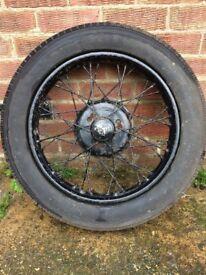 "Austin 7 19"" wheel and tyre"