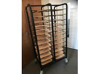 Catering Trolleys with strong Melamine trays