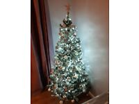 6 foot Snowy Christmas Tree