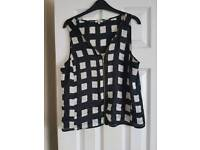 Black and white top from River Island size 14