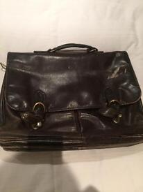Hidesign briefcase brown leather