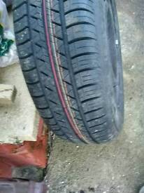 Vw golf wheel and new tyre