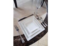 Branded Dining Crockery. 3 set Square plates or 3 set round plate.