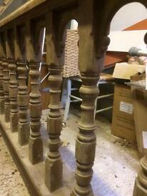 Altar rail in mahogany. From church