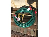 15m reinforced hose and fittings