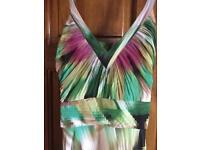 Jasper Conran long multi-coloured dress (size 14)