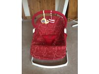 BabaBing Float Baby Bouncer, red