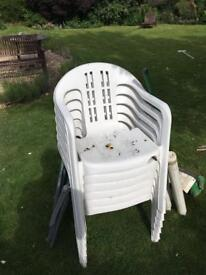 Plastic garden chairs free
