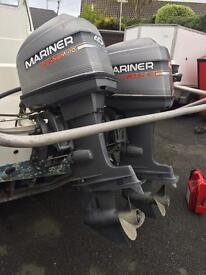 Twin mariner magnum 40hp trim & tilt