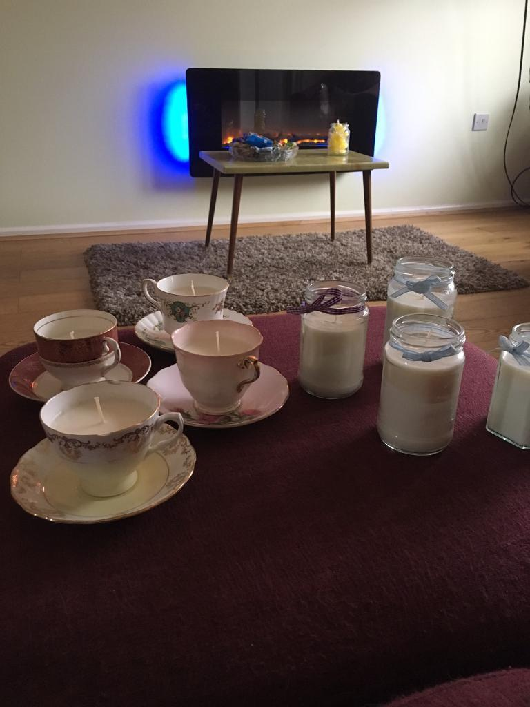 Vintage Tea Cup Candles and Jar Candles