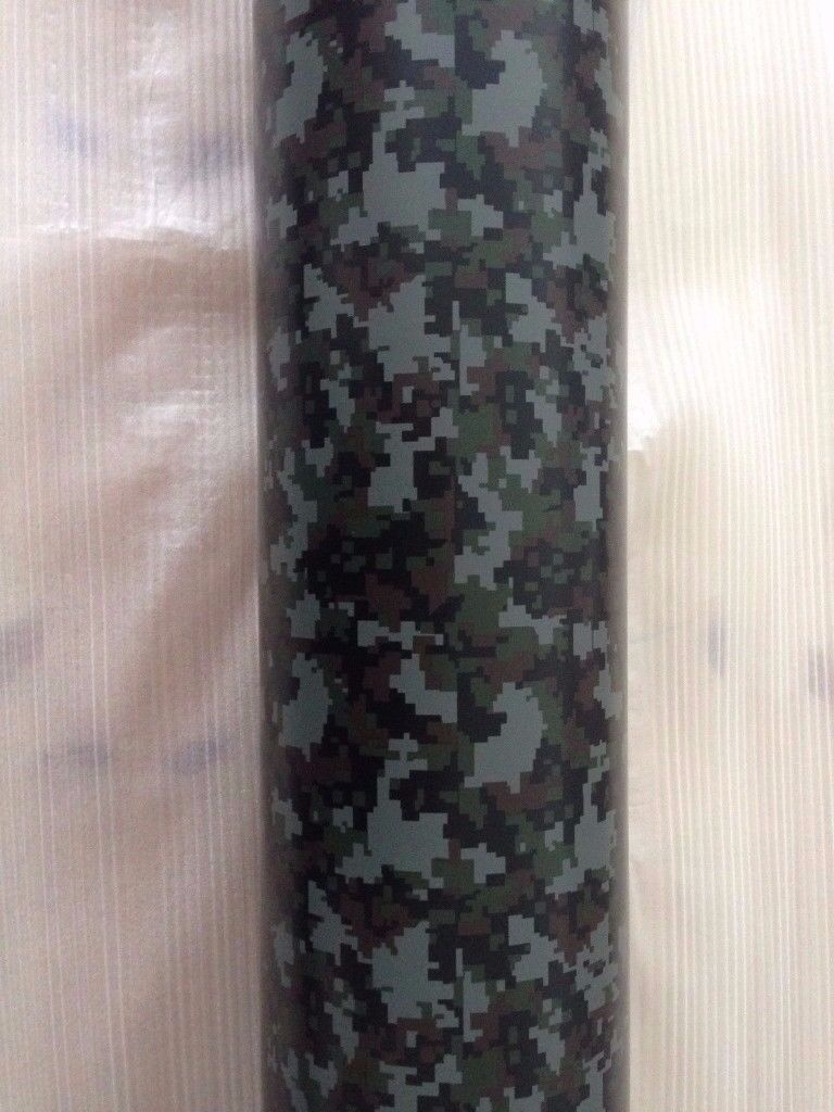 Durable Green to Brown Digital Camouflage Car Vinyl Wrap , Many Sizes Available , long lasting