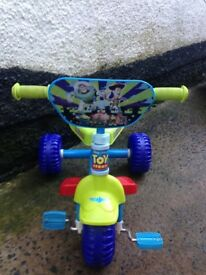 Kids Toy Story pedal trike as new !!