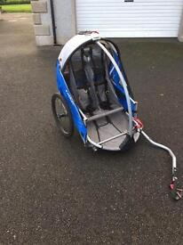 Two seater child's bike buggy