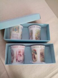 Beatrix Potter Porcelain Mug Sets ( boxed ) Tiggywinkle and Peter Rabbit