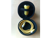 Hard Storage Case With Car Charger & Micro USB Cable Yellow