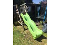 Little Tykes wavy slide with wooden Frame