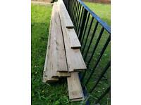 Have for sale fencein slats 1nch by 4 inch by 6