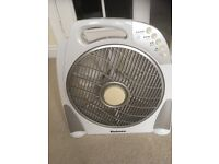 Indoor Fan. Holmes brand. Remote control. Rotating grid. White.