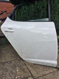 2013 Seat Ibiza 5 Door Hatchback Offside Rear Door Drivers Side White