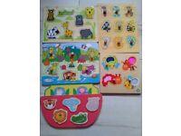 7 wooden puzzles for preschool children