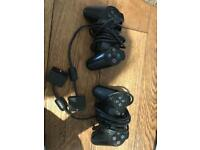 Two ps2 controllers and Pes 6 controller