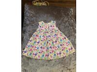Debenhams baby girl butterfly and flower dress, 6-9 Months
