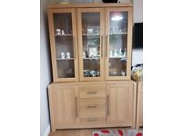 Pair Oak Effect Dining Room Dressers