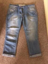 Next crop jeans size 10