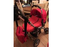 Red and green Jane nomad pram