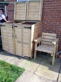 Wheely bin/bin shed