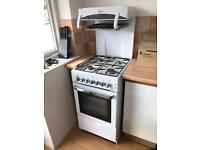 Flavel Aspen 50cm Single Oven Gas Cooker With High Level Grill White