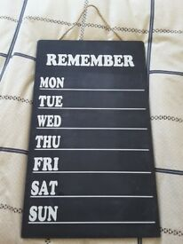 Daily chalk board plan