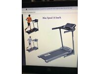 Motorised electric treadmill 16km/h top of range quality built as new
