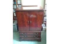 Vintage mahogany media cabinet/ stand/ unit