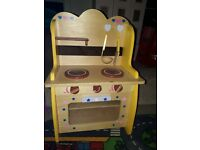 Wooden toy cooker kitchen