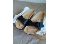 Sommers Sandals, brand new, never used, half prize! size 7.5 - EU41 black