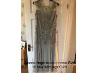 Joanna Hope beaded dress size 16 new with tags