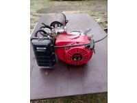 Chinese 6.5 hp generator engine with exhaust system fitted