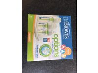 Dr Brown Delux Starter Kit Baby Bottles. New and used.