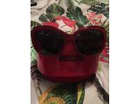 Moschino red sunglasses