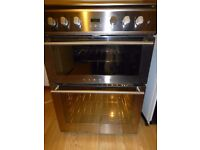 Stoves 61GDOT Stainless Steel 60cm Gas Double Oven Cooker with Gas Hob