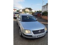 -CHEAP GOOD CAR-2003 VOLKSWAGEN PASSAT SALOON 1.9 DIESEL 4DR MANUAL(MOT)