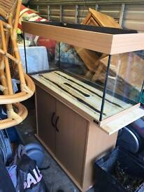 Juwel 180 litre fish tank and cabinet