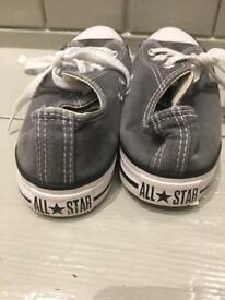 Grey converse trainers shoes uk 5 38 all star !
