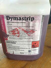 Dymastrip high power polish stripper-part used 5 litre bottle