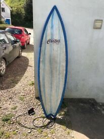 Cortez Classic 6'6 fish surfboard with bag