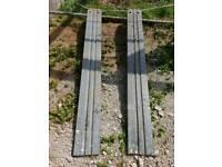 Galvanised steel trailer ramps