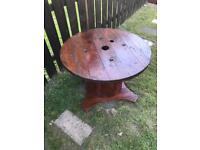 Vintage Garden table drumm (handmad)