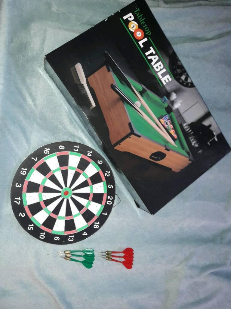Pool table and Darts bundle